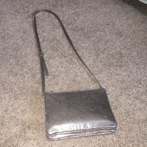 Silver metallic purse